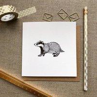 Badger Greetings Card