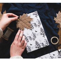 Watercolour Mystical Forest Christmas Gift Wrap