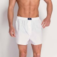British Boxer Shorts In White