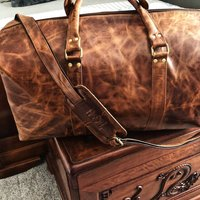 Exclusive G And L Tan Overnight Holdall