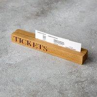 Oak Ticket Holder