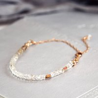 Rose Gold And Topaz Bracelet, Gold