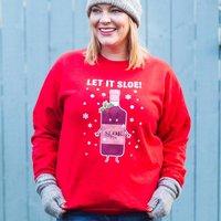 Funny Sloe Gin Christmas Jumper