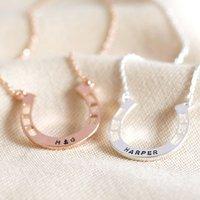 Personalised Horseshoe Necklace