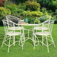 Vintage Four Piece Bistro Table And Chairs Set