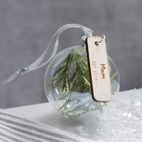 Personalised Glass Bauble For Her
