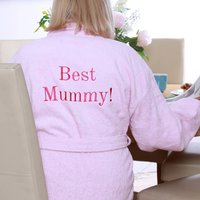 Personalised 'Best Mummy' Dressing Gown