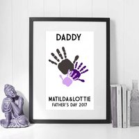 Personalised Father's Day Print, Black/White