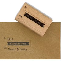 Wooden Merry Christmas Stamp