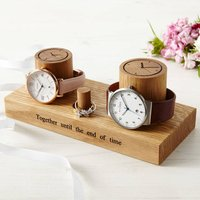 Personalised Couple's Wooden Jewellery Stand