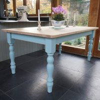 Chilmark Table Hand Painted In Any Colour, Blue/White/Green