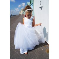 Courtney Flower Girl Dress ~ Lilly + Bo Collection, White