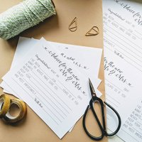 Print At Home Wedding Day Advice Cards