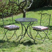 Parisian Folding Garden Bistro Table And Chairs