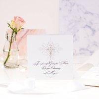 Crystal Cross Personalised Christening Card