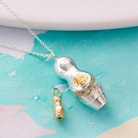 Personalised Babushka Russian Doll Necklace