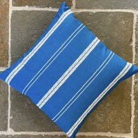 Slade Stripe Riviera Linen Blend Cushion