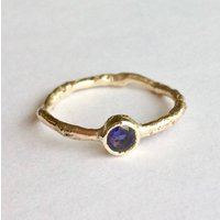 Water Ring Solid 9ct Yellow Recycled Gold With Gemstone, Gold