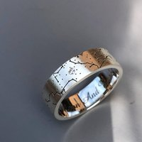 Custom Special Birthday Star Map Ring