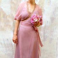 Vintage Style 1940s Silk Wrap Dress