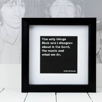 Framed Keith Richards Music Quote Print