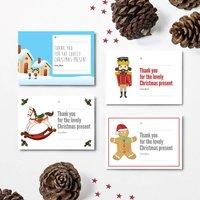 Christmas Thank You Postcards 2016