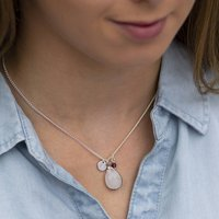 Personalised Moonstone Charm Necklace