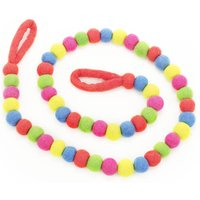 Neon Bubble Garland Fair Trade Handmade Felt
