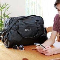 Personalised Classic Weekend Leather Look Bag