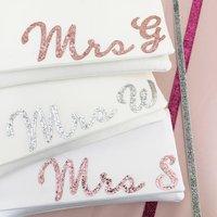Mrs Initial Bridal Wedding Day Clutch