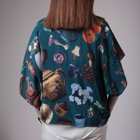 Handmade Silk Kimono, Photographic Tea Cup