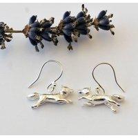 Fox Earrings In Silver, Silver