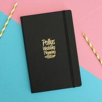 Personalised Wedding Notes Book, Gold/Silver/Blue