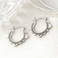 Sterling Silver Agadir Dream Hoops, Silver