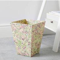 Marbled Botanicals Wastepaper Bin And Liner