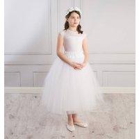 Ballerina Tutu Flower Girl Skirt, Ivory/White
