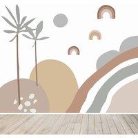 Abstract Wren Wallpaper Mural