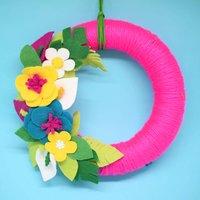 Tropical Summer Wreath Felt Craft Kit