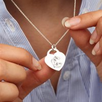 18ct Gold Or Silver Story Book Initial Necklace, Silver
