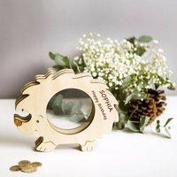 Hedgehog Personalised Children's Money Box