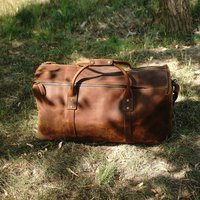 Genuine Leather Holdall Luggage