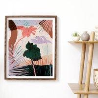 Terrazzo Tropical Leaf Art Print