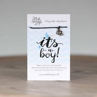'It's A Boy' Tiny Feet Wish Bracelet