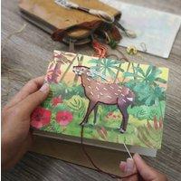 Embroider Me Saola Greeting Card