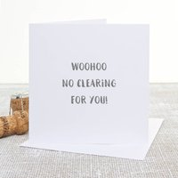 'No Clearing' A Level Results Congratulations Card