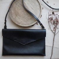 Leather Bag Envelope Style With Magnetic Fastening