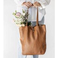 Caramel Soft Italian Leather Tote Shopper