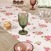 Helmsley Blush Floral Cotton Table Runner
