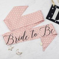 Pink Star Print Personalised Hen Party Sash