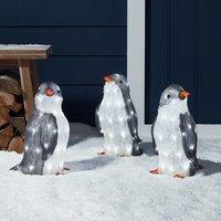 Trio Of Light Up Penguins